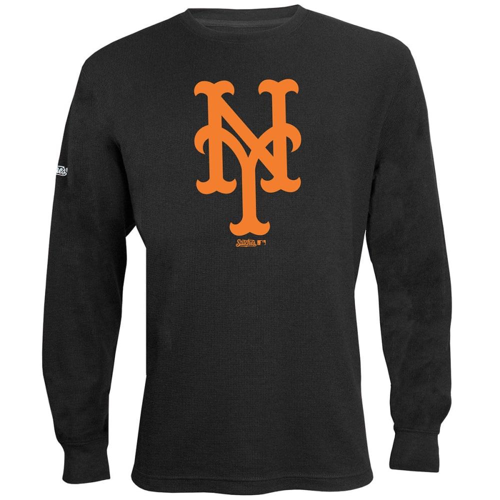 NEW YORK METS Men's Thermal Long-Sleeve Top - BLACK