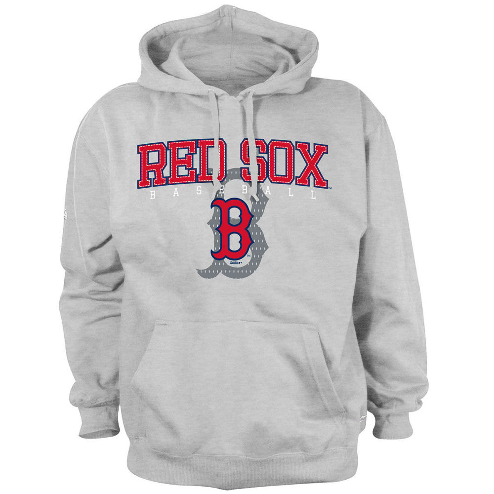 BOSTON RED SOX Men's Pullover Hooded Fleece - HEATHER GREY