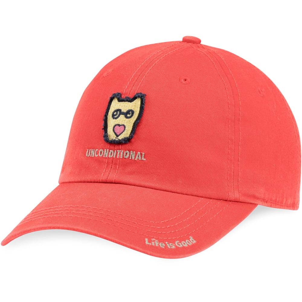 LIFE IS GOOD Men's Rocket Heart Tattered Chill Cap - AMERICANA RED