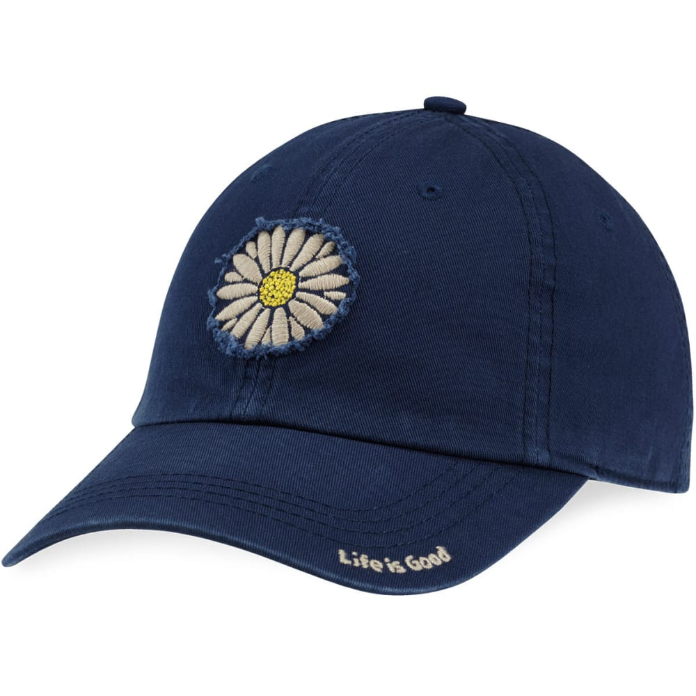 LIFE IS GOOD Women's Daisy Tattered Chill Cap - DARKEST BLUE