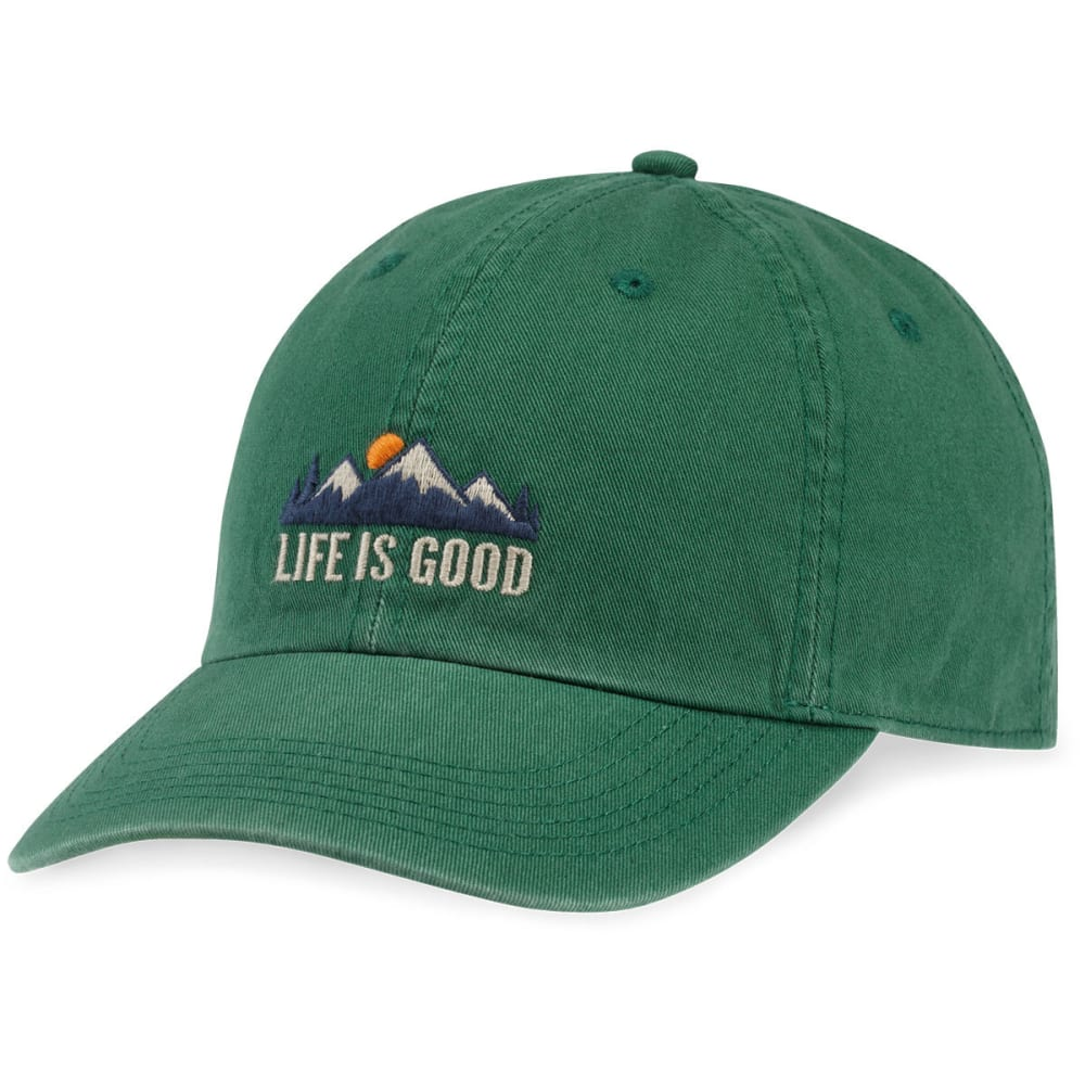 LIFE IS GOOD Men's LIG Oval Chill Cap - FOREST GREEN