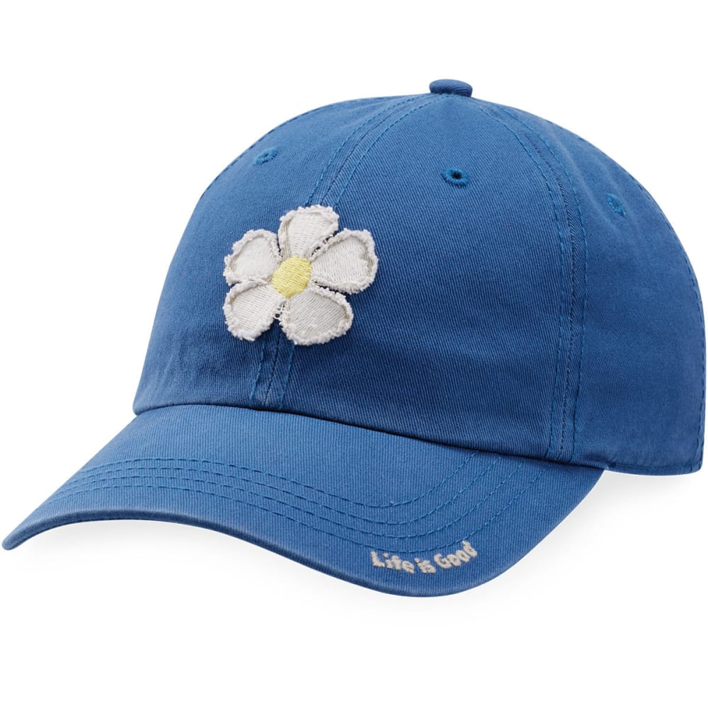 LIFE IS GOOD Women's Daisy Tattered Chill Cap - VINTAGE BLUE