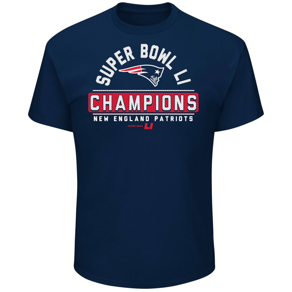 NEW ENGLAND PATRIOTS Men's Super Bowl LI Front Runner Short-Sleeve Tee - NAVY