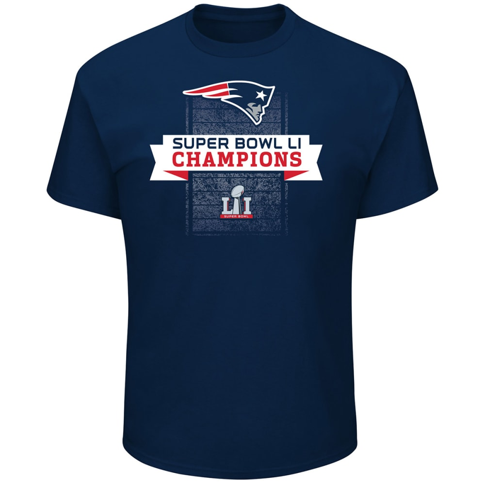 NEW ENGLAND PATRIOTS Men's Super Bowl LI Champion Challenge Short-Sleeve Tee - NAVY