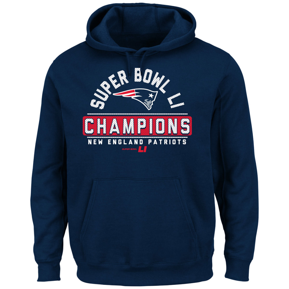 NEW ENGLAND PATRIOTS Men's Super Bowl LI Front Runner Pullover Hoodie - NAVY