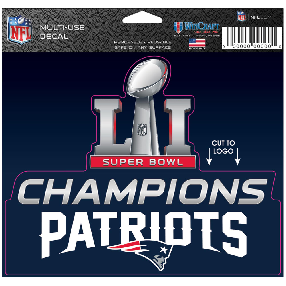 NEW ENGLAND PATRIOTS 2016/17 Super Bowl Champions Multi-Use Decal - NAVY