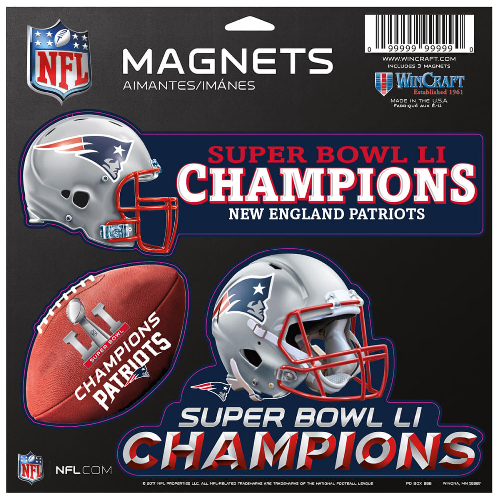 NEW ENGLAND PATRIOTS 2016/17 Super Bowl Champions Die-Cut Magnets - NAVY