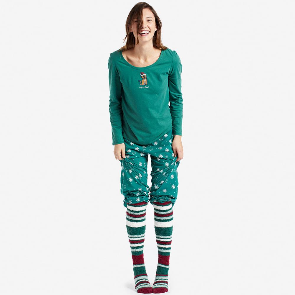 LIFE IS GOOD Women's Stripes Fun Snuggle Socks - STRIPES