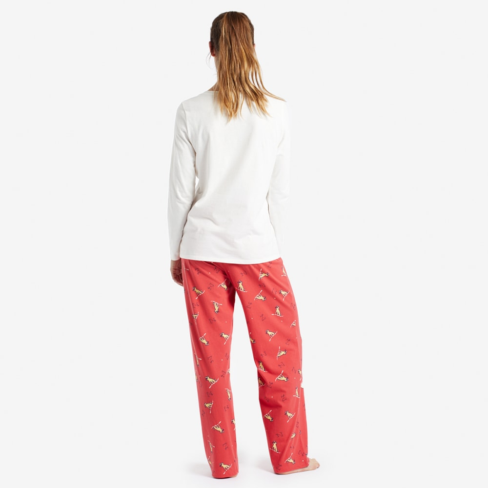LIFE IS GOOD Women's Winter Rocket Jersey Sleep Pants - NOVELTY