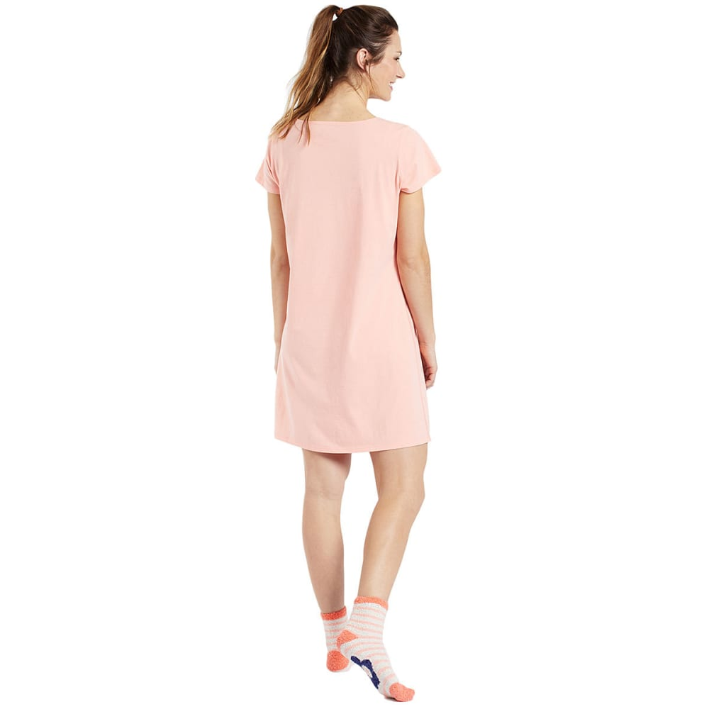 LIFE IS GOOD Women's Mamaste Sleep Tee Dress - CHALKY PEACH
