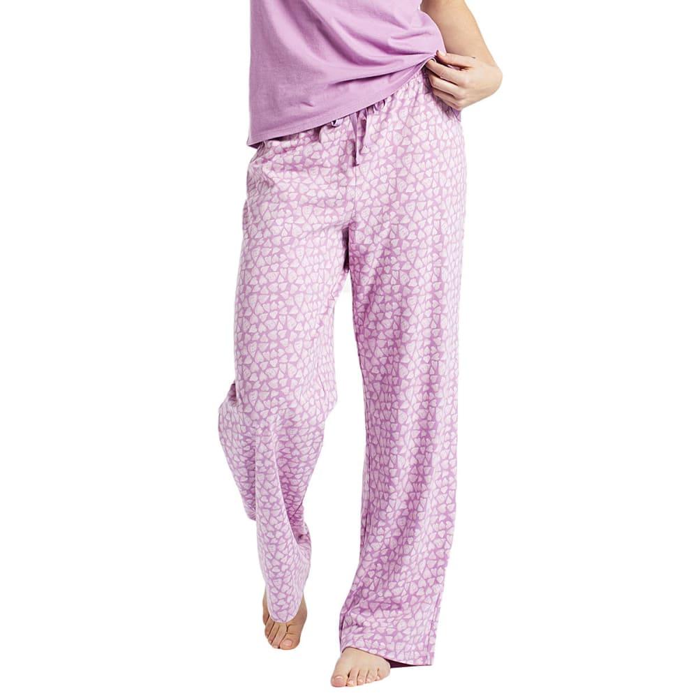 LIFE IS GOOD Women's Mini Hearts Jersey Sleep Pants - DUSTY ORCHID