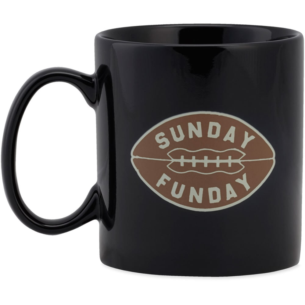 LIFE IS GOOD Sunday Funday Jake's Mug - NIGHT BLACK