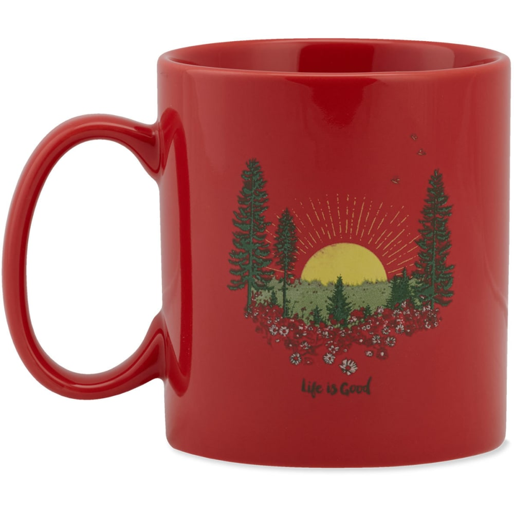 LIFE IS GOOD Sunrise Forest Jake's Mug - AMERICANA RED