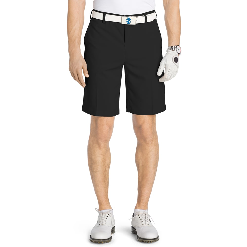 IZOD Men's Flat Front Flex Golf Shorts - BLACK-001