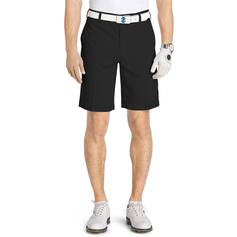 IZOD Men's Flat Front Flex Golf Shorts - BLACK-001