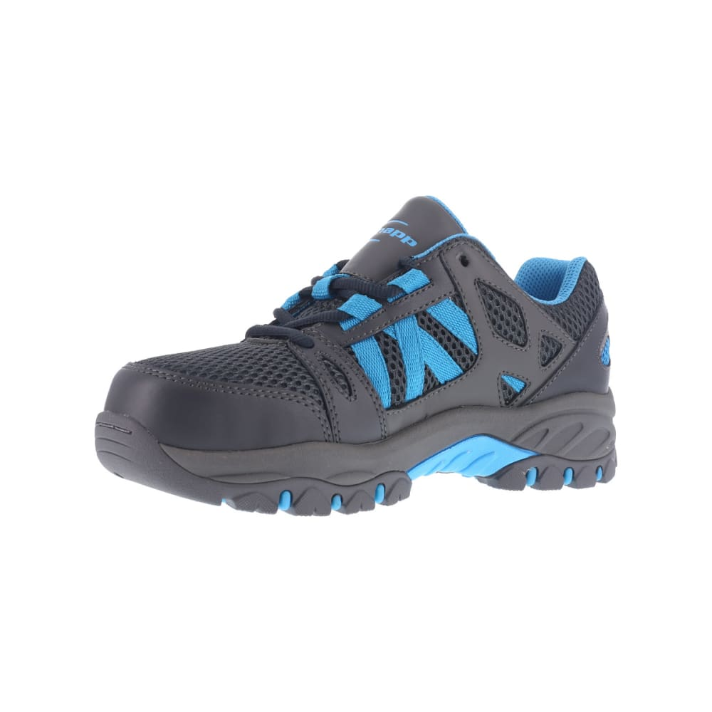 KNAPP Women's Allowance Sport work shoes, Charcoal/ Blue - CHARCOAL / BLUE