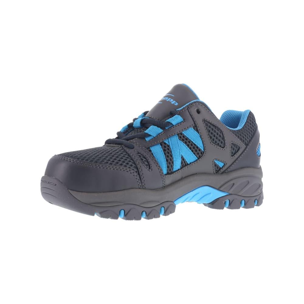 KNAPP Women's Allowance Sport work shoes, Charcoal/ Blue - CHARCOAL / BLUE