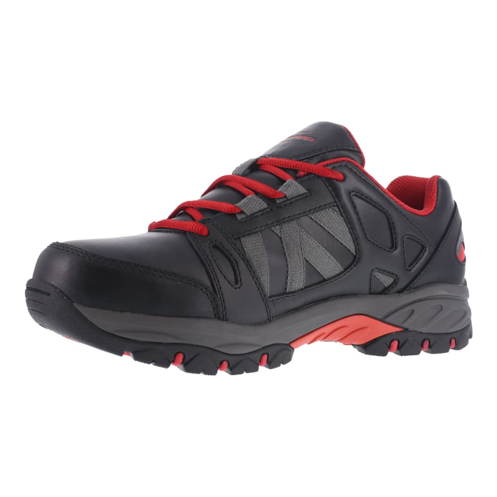 KNAPP Men's Allowance Sport Steel Toe work shoes, Black/ Red - BLACK/RED