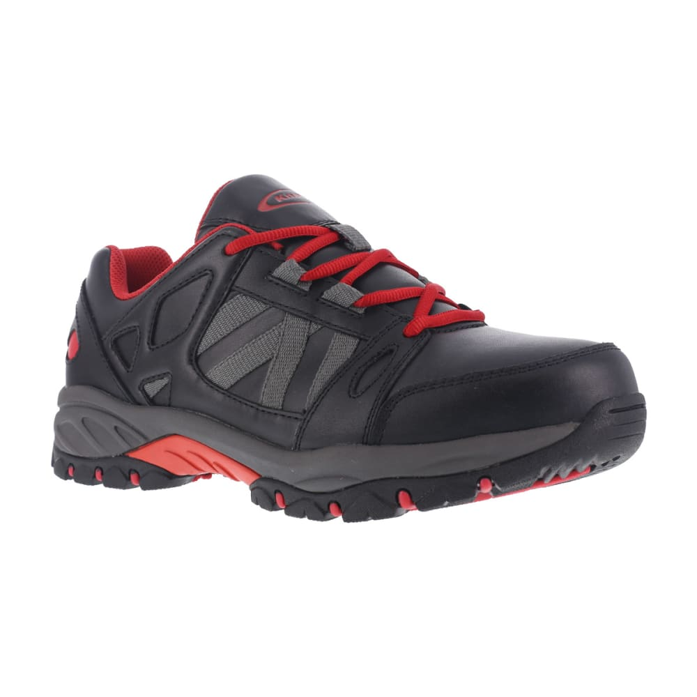 KNAPP Men's Allowance Sport Steel Toe work shoes, Black/ Red - BLACK/RED