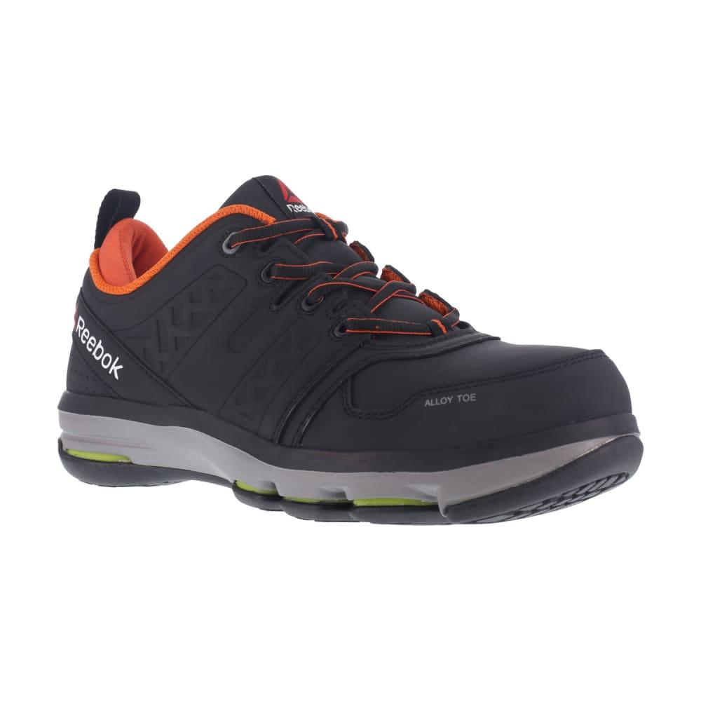 REEBOK WORK Men's DMX Flex Alloy Toe Work Shoes, Black/ Orange, Wide - BLACK/ORANGE
