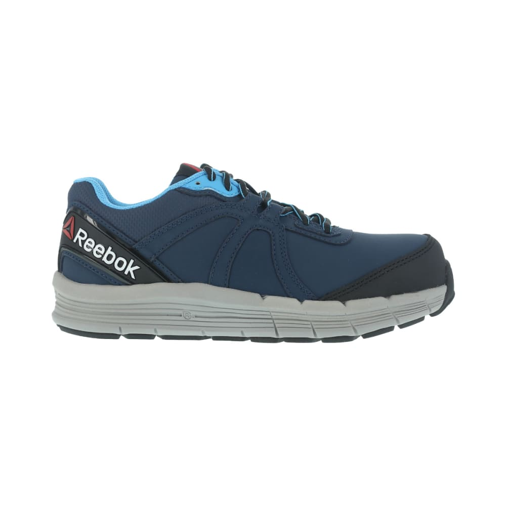 REEBOK WORK Women's Guide Work Steel Toe Work Shoes, Navy/ Light Blue, Wide - Navy/Light Blue