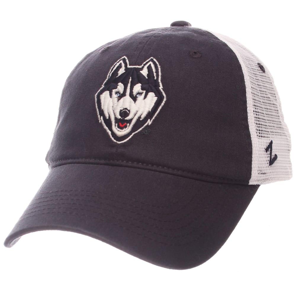 UCONN Men's University Trucker Snapback Cap - NAVY/WHITE
