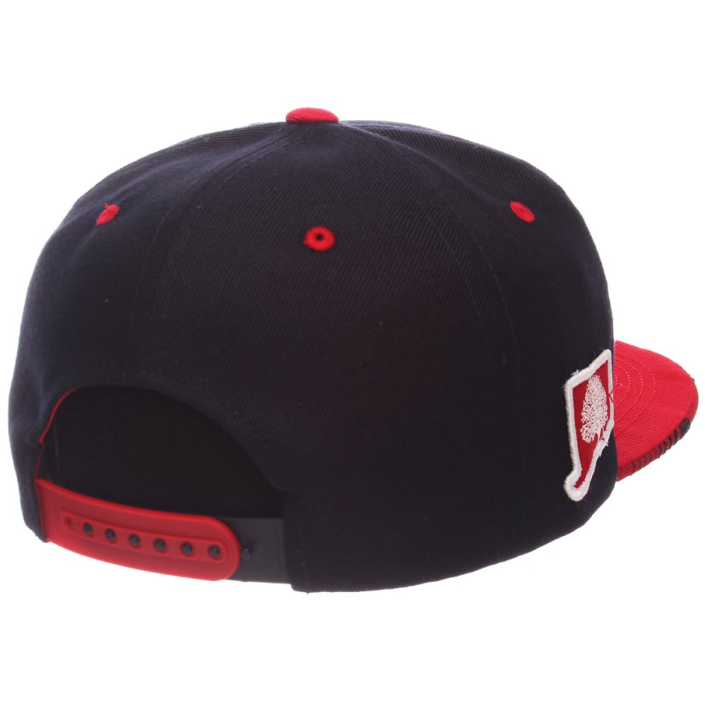 UCONN Men's Drop Step Snapback Cap - NAVY/RED