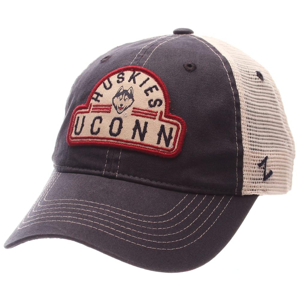 UCONN Men's Route Trucker Snapback Cap - NAVY/WHITE