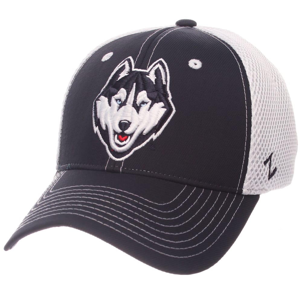 UCONN Men's Pregame Mesh Back Fitted Cap - NAVY/WHITE