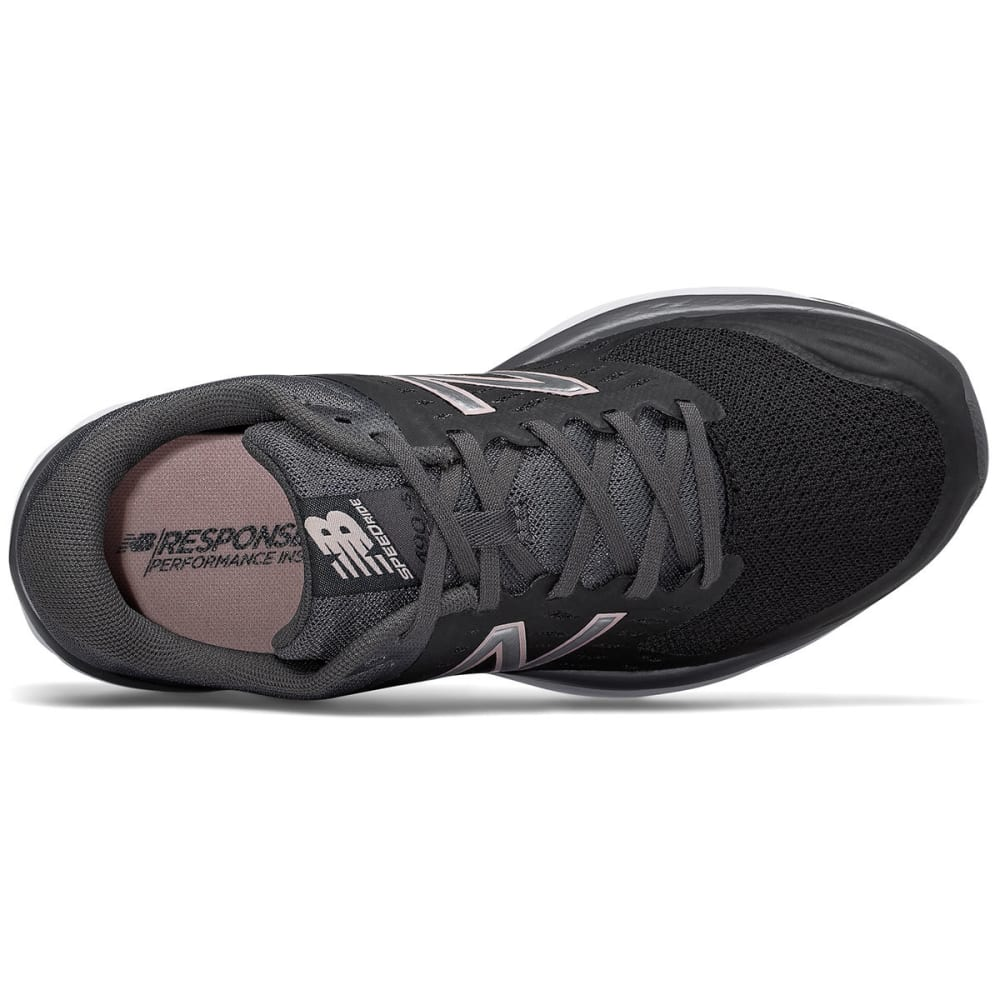 NEW BALANCE Women's 490v5 Running Shoes, Black/Magnet - BLACK