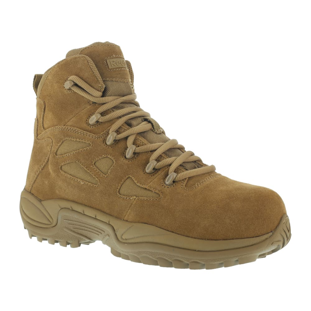 REEBOK WORK Men's Rapid Response RB Composite Toe Work Boots, Coyote, Wide - COYOTE