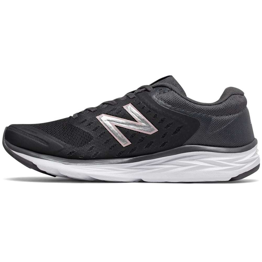NEW BALANCE Women's 490v5 Running Shoes, Black/Magnet, Wide - BLACK