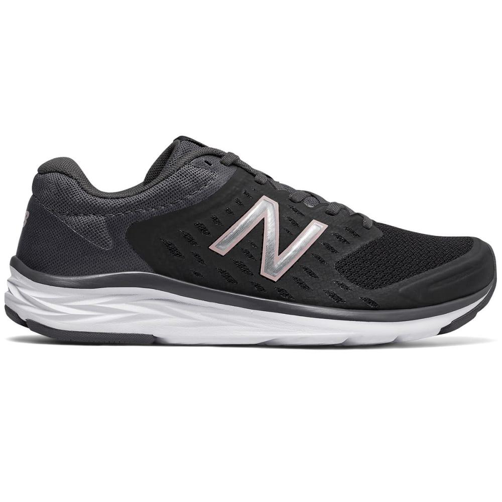New Balance Women's 490V5 Running Shoes, Black/magnet, Wide