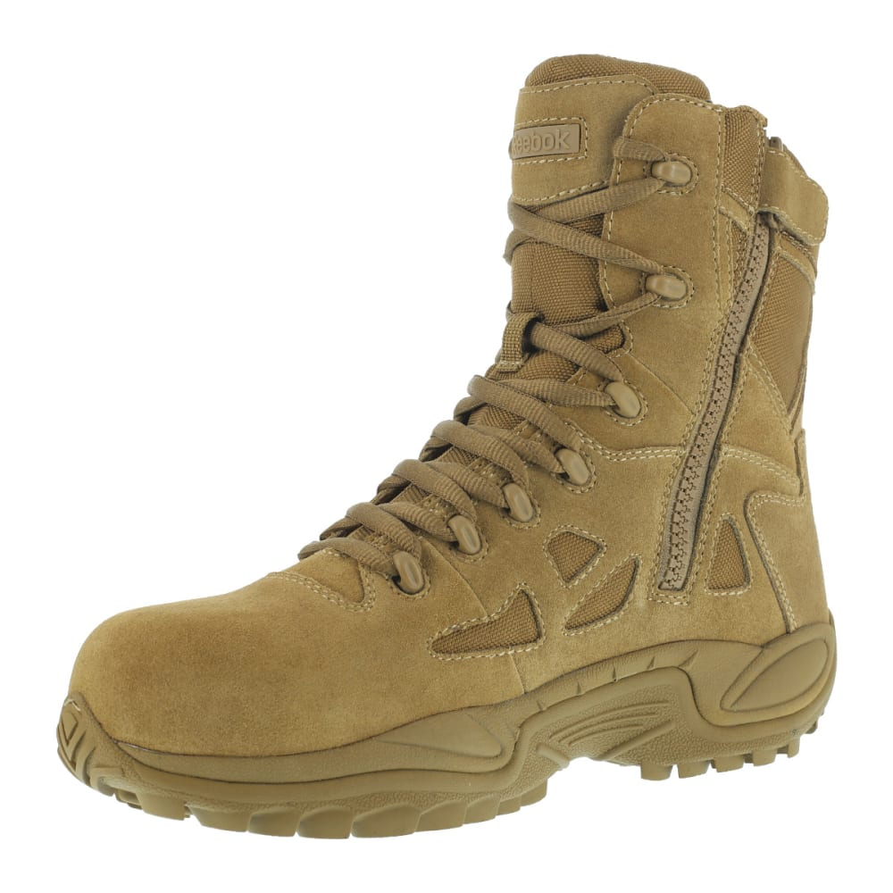 REEBOK WORK Men's Rapid Response 8inch RB Composite Toe Work Boots, Coyote, Wide - COYOTE