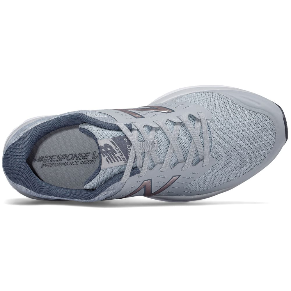NEW BALANCE Women's 490v5 Running Shoes, Silver Mink/Thunder, Wide - SILVER