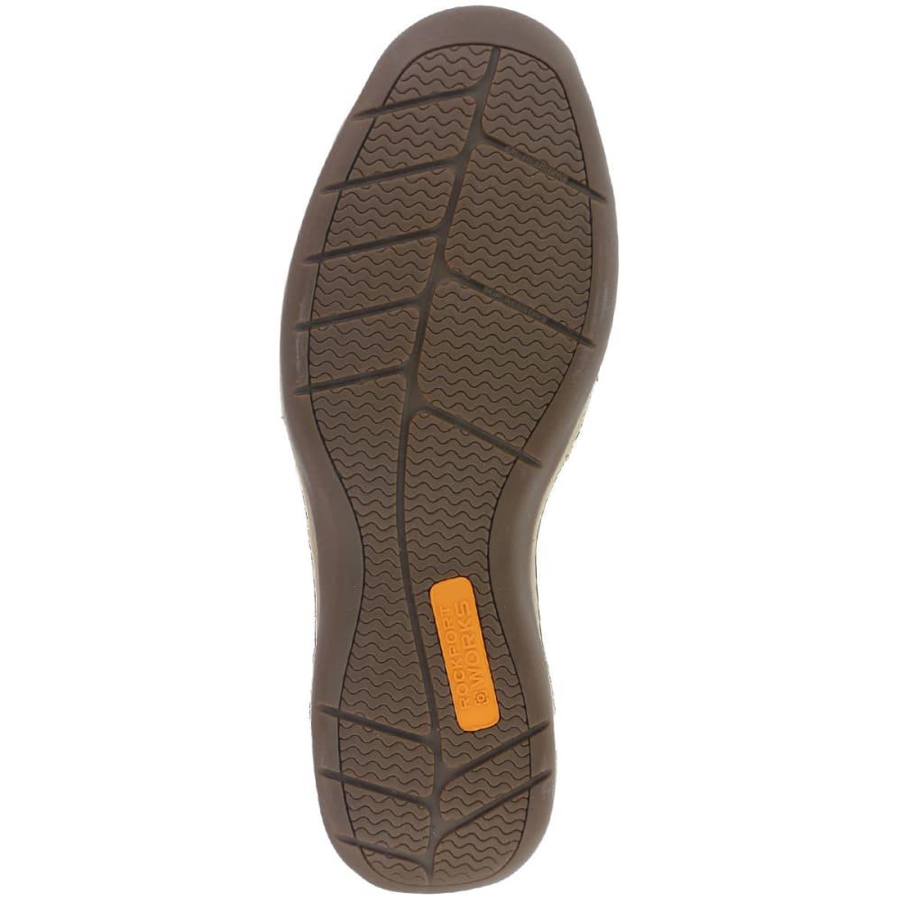 ROCKPORT WORKS Men's Sailing Club Steel Toe Boat Shoes, Brown - BROWN