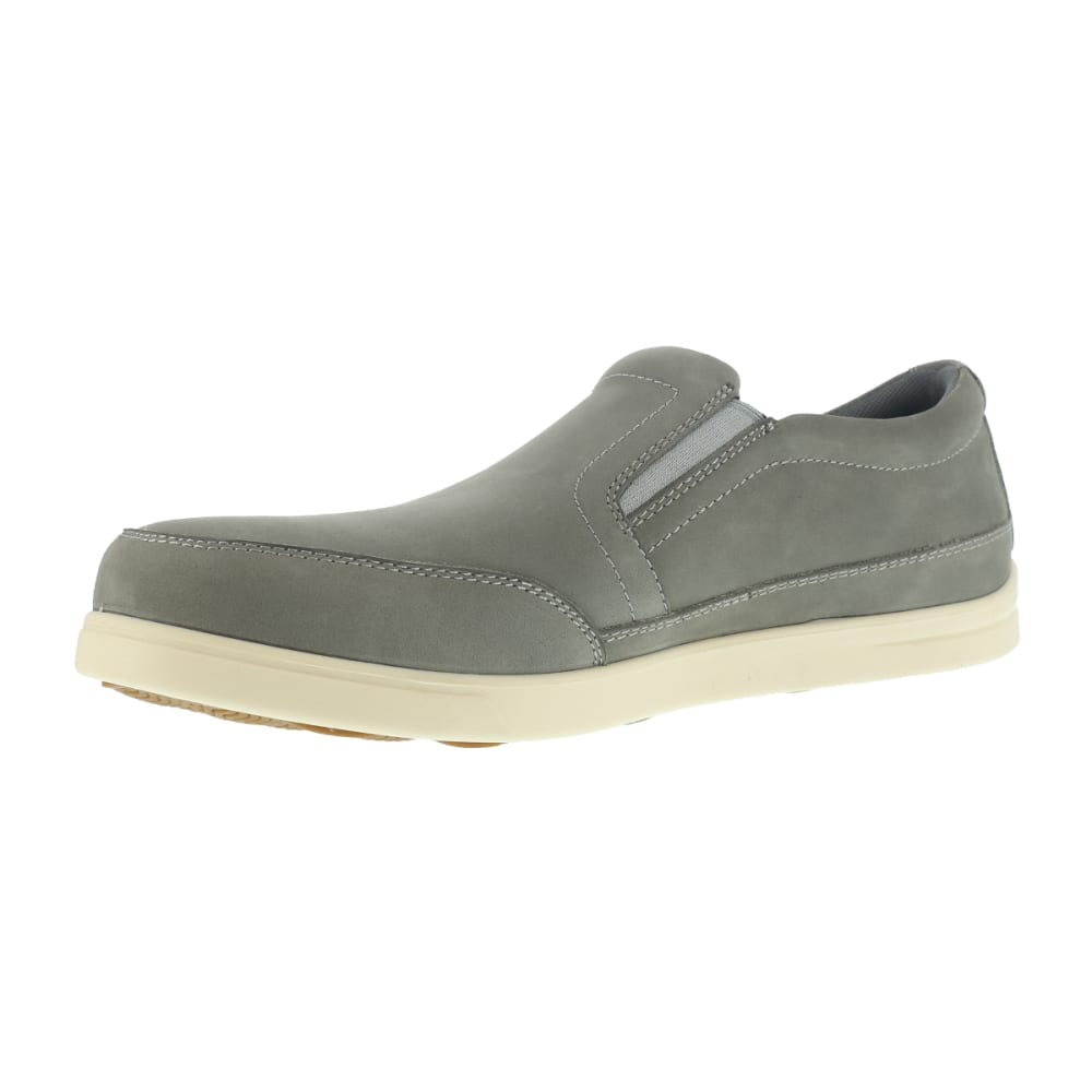 FLORSHEIM WORK Men's Stoss Steel Toe Oxford Work Shoes, Taupe/ Bone White - TAUPE/BONE WHITE