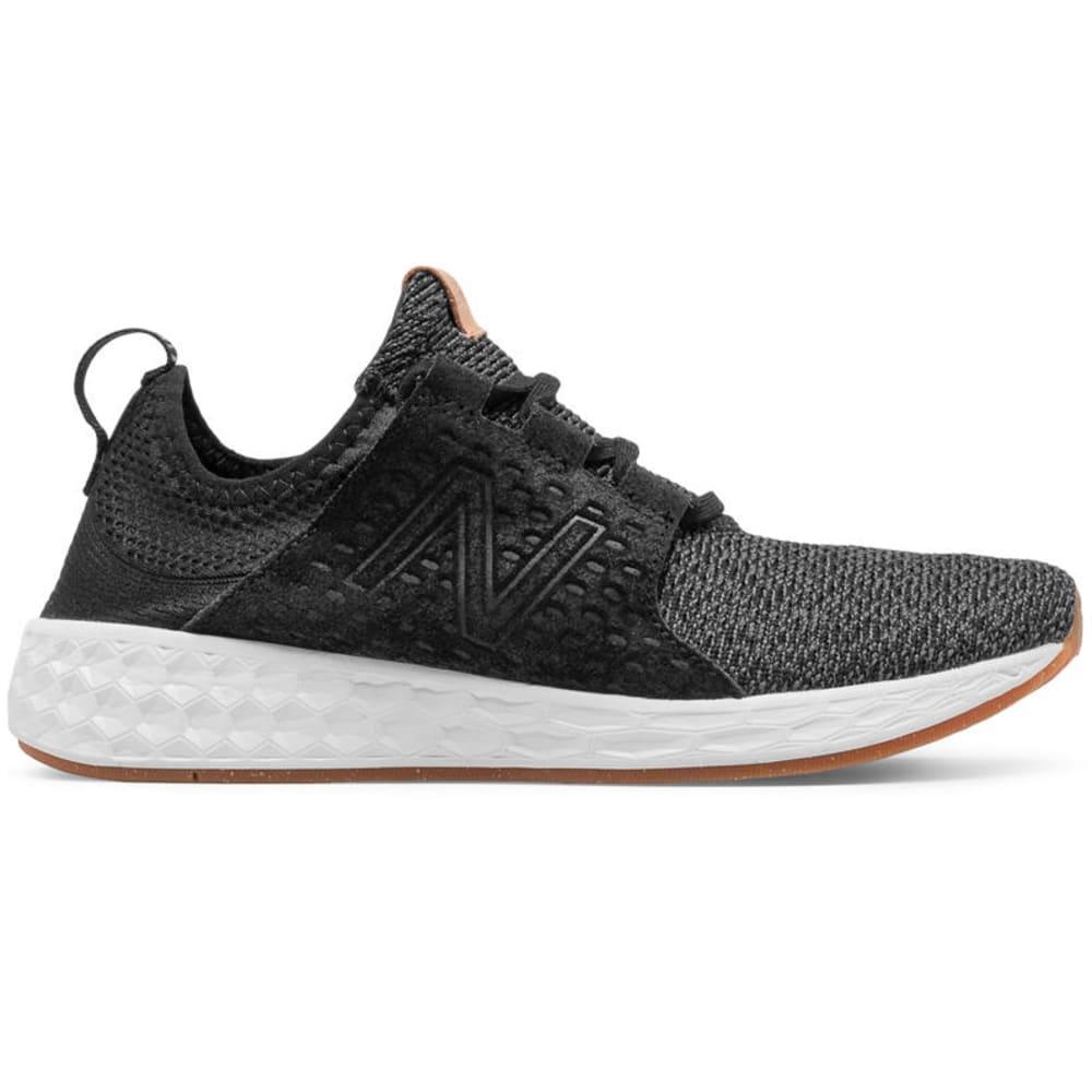 NEW BALANCE Women's Fresh Foam Cruz V1 Running Shoes, Black/Sea Foam/Gum - BLACK