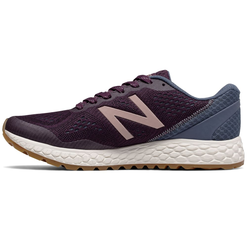NEW BALANCE Women's Fresh Foam Gobi Trail v2 Running Shoes, Aubergine/Vintage Indigo/Rose Gold - AUBERGINE