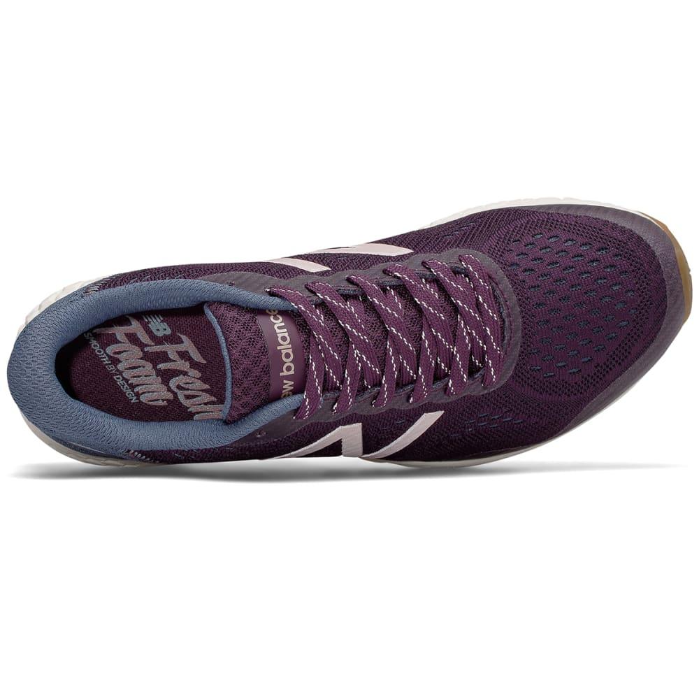 NEW BALANCE Women's Fresh Foam Gobi Trail v2 Running Shoes, Aubergine/Vintage Indigo/Rose Gold - AUBERGINE