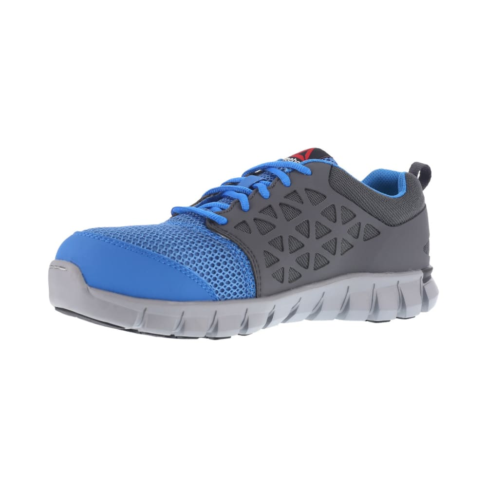 REEBOK WORK Men's Sublite Cushion Work Alloy Toe Work Shoes, Blue/ Grey, Wide - BLUE/GREY