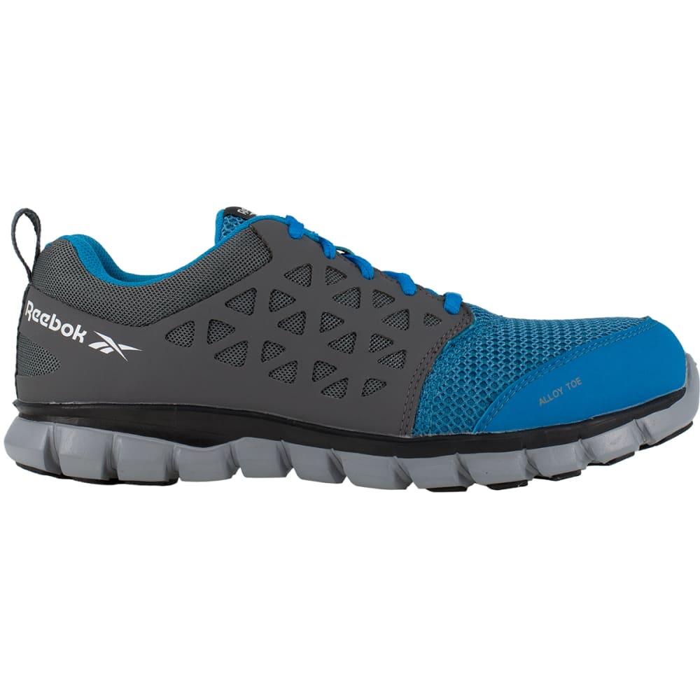 REEBOK WORK Men's Sublite Cushion Work Alloy Toe Work Shoes, Blue/ Grey, Wide - BLUE/GREY