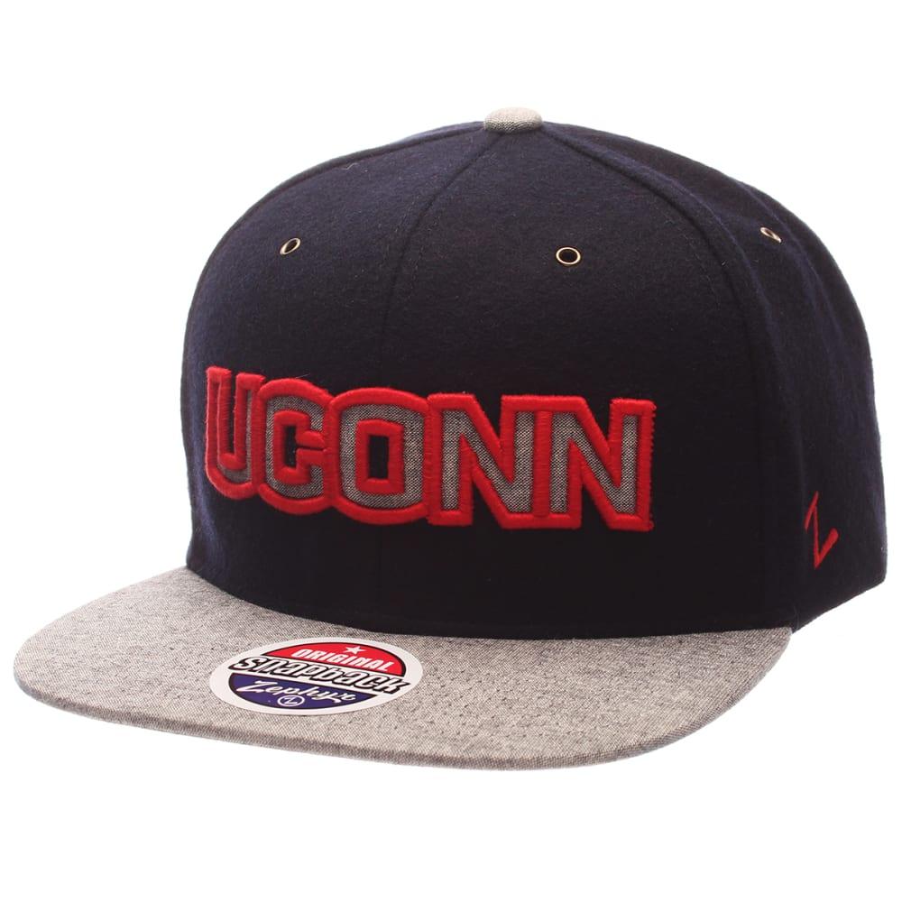 UCONN Men's Executive Snapback Cap - NAVY/GREY