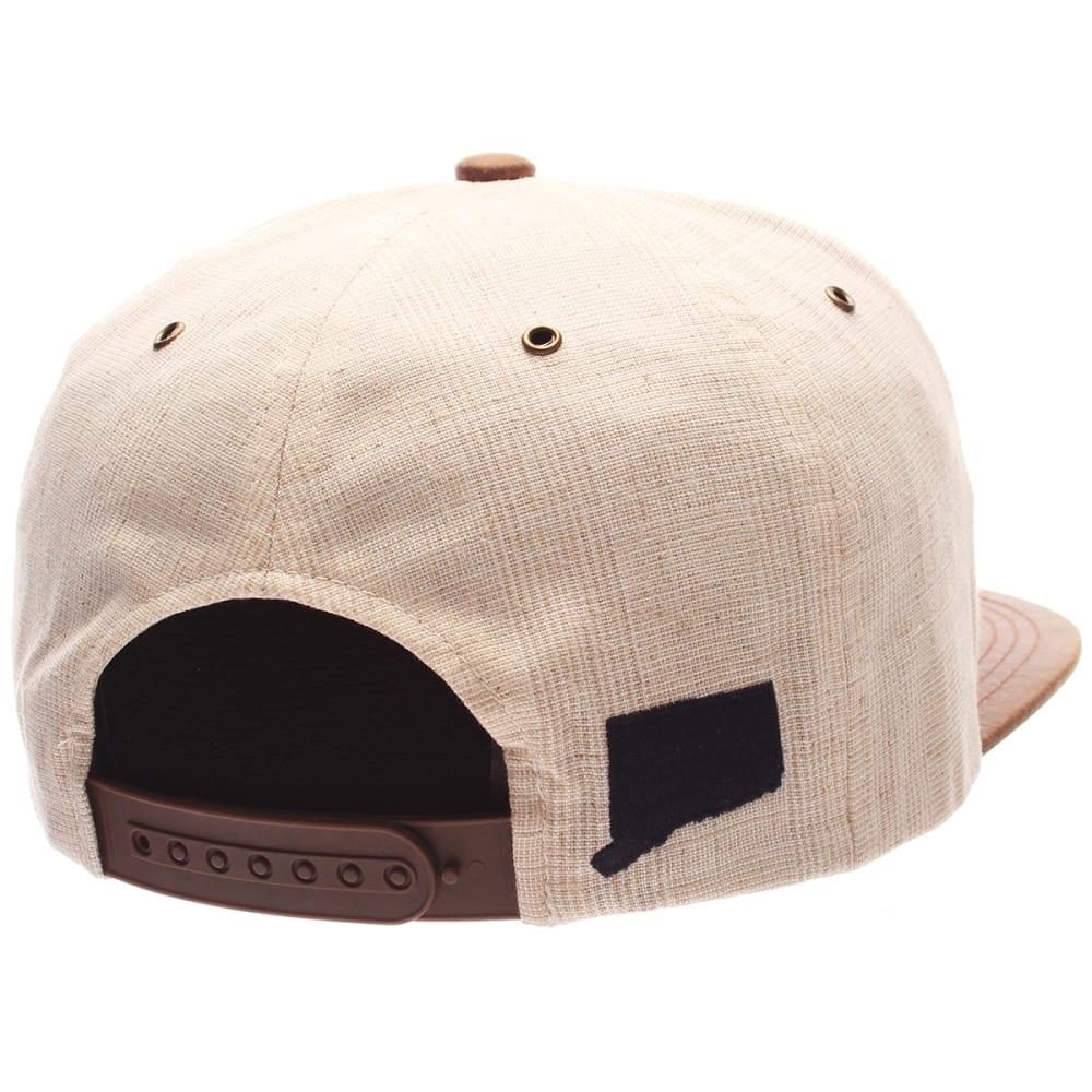 UCONN Men's Havana Snapback Cap - BEIGE-TAN