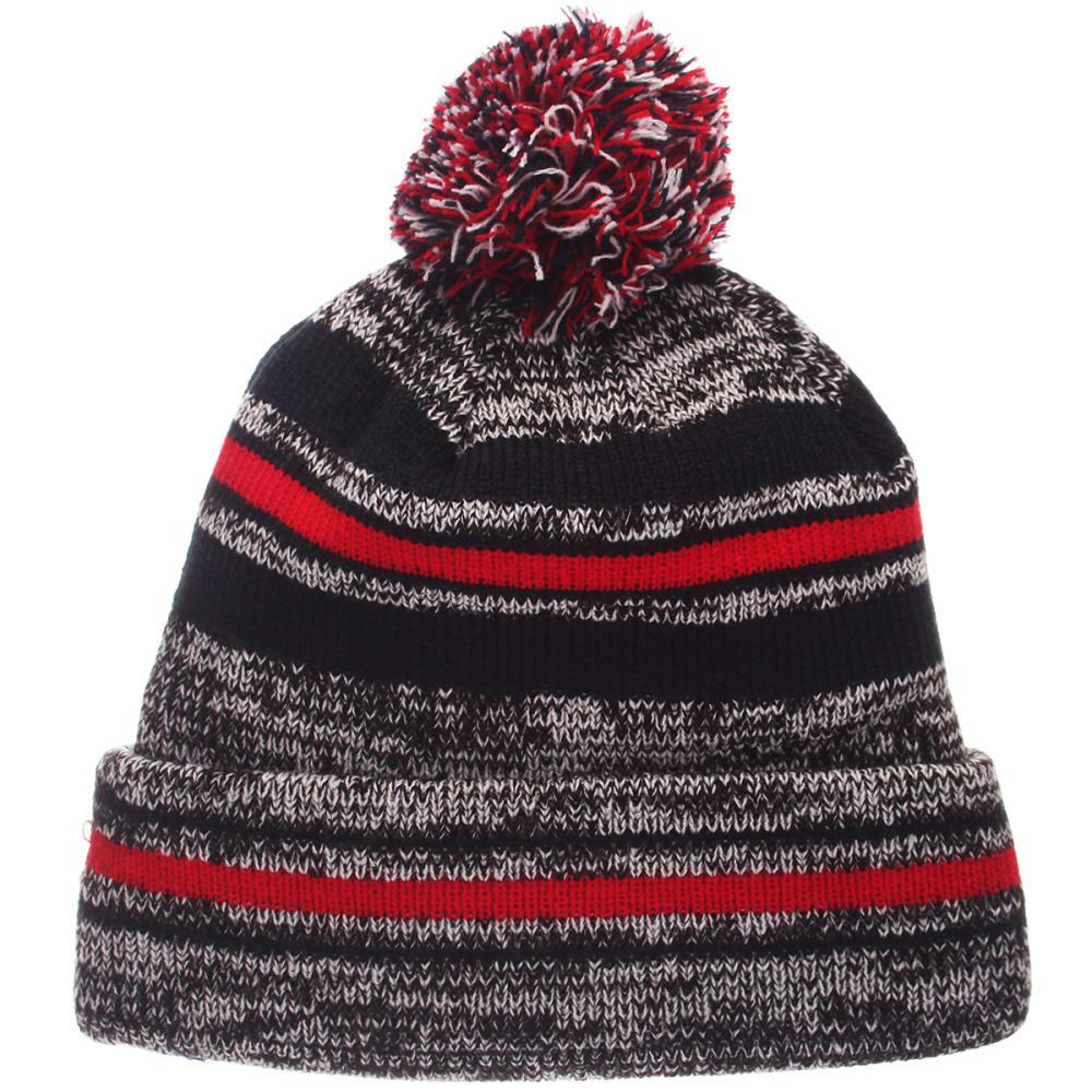 UCONN Titanium Cuffed Pom Knit Beanie - GREY