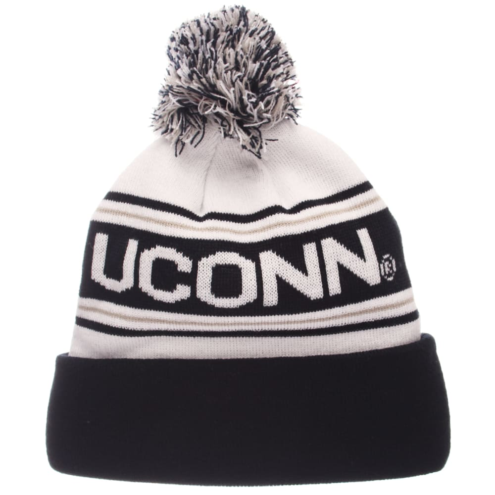 UCONN Finish Line Cuffed Pom Knit Beanie - NAVY