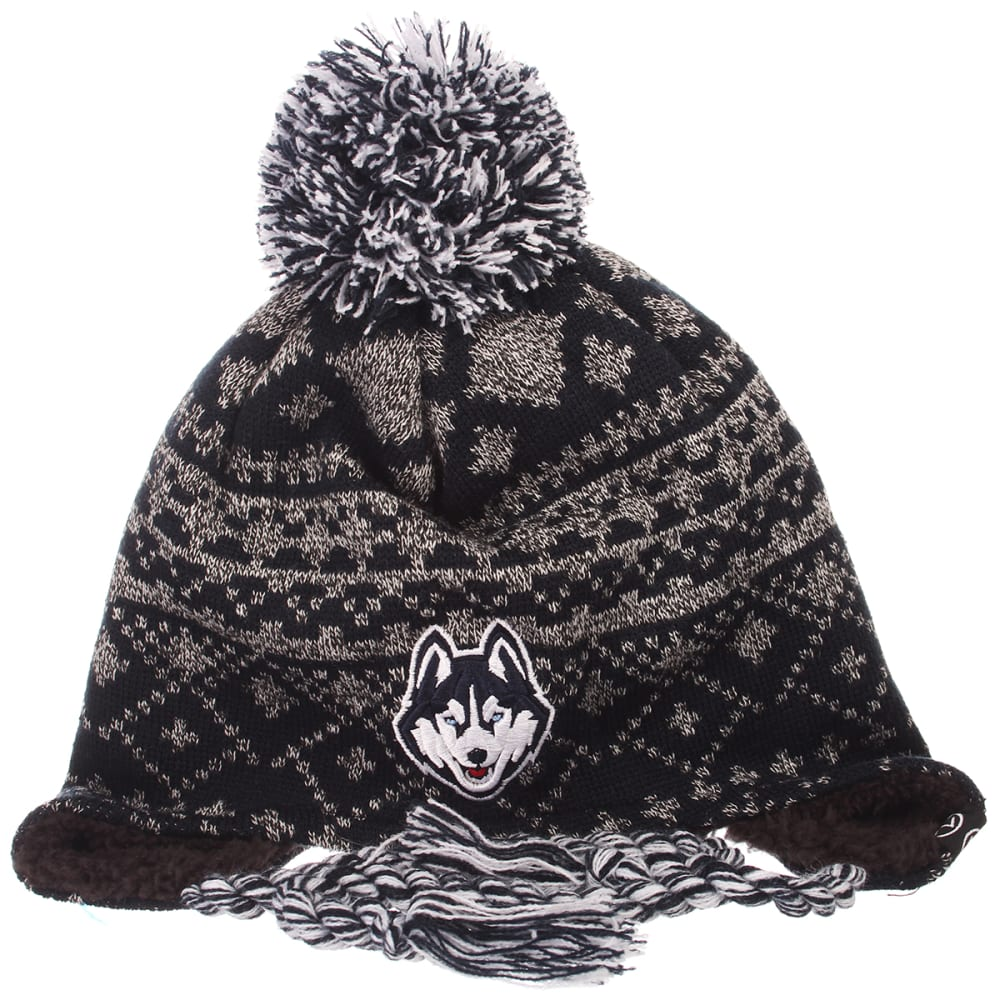 UCONN Teton Pom Knit Beanie - NAVY