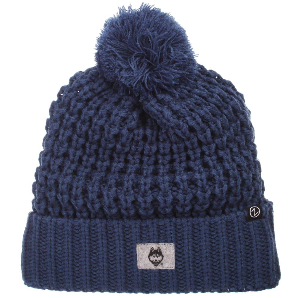 UCONN Cozy Cuffed Pom Knit Beanie - NAVY