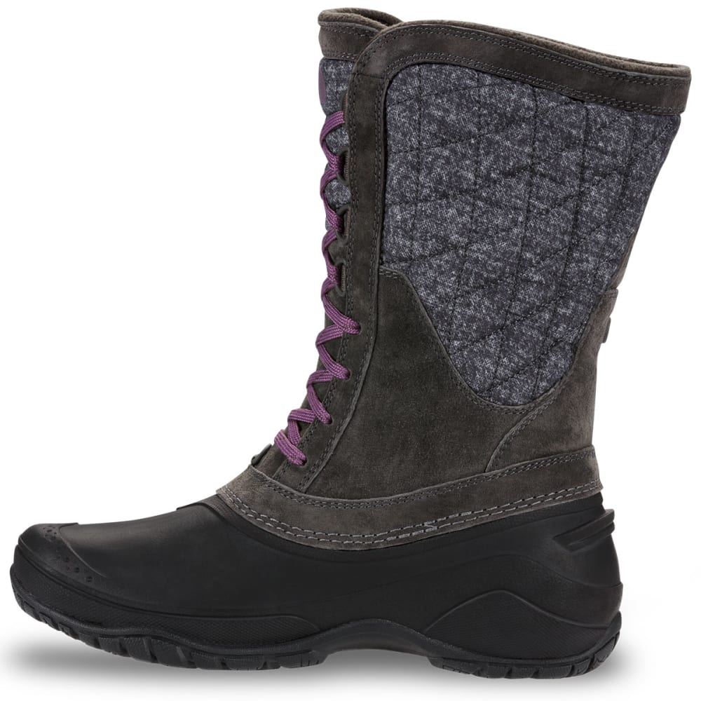 THE NORTH FACE Women's ThermoBall™ Utility Mid Waterproof Boots, Burnished Houndstooth Print/Black Plum - BURN HOUNDSTOOTH/BLK