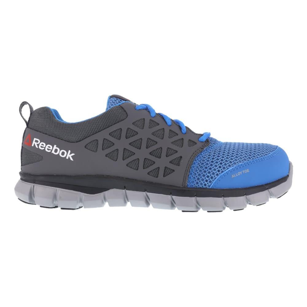 REEBOK WORK Women's Sublite Cushion Work Alloy Toe Work Shoes, Blue/ Grey, Wide - BLUE/GREY